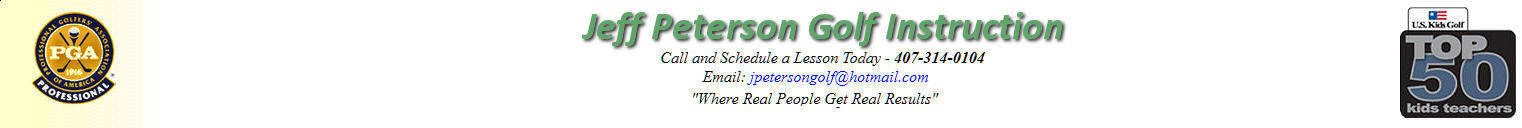 Jeff Peterson is a practicing PGA Professional, a member of The Proponent Group, and a Top 50 Kids Teacher